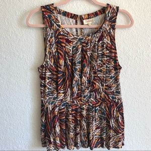 ANTHROPOLOGIE DELETTA Sleeveless Printed Blouse
